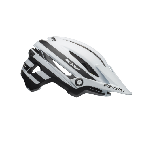 Kask rowerowy BELL SIXER INTEGRATED MIPS fasthouse stripes matte white black