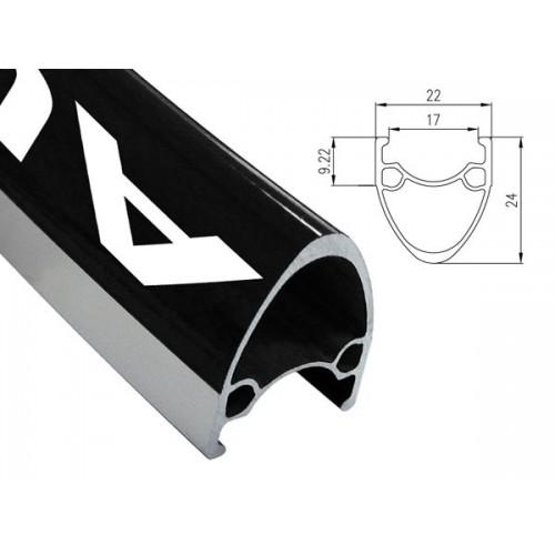 Obręcz szosa ALEXRIMS AT490 700x28otw. bok CNC czarna