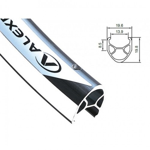 Obręcz szosa ALEXRIMS R450 700x36otw. bok CNC biała