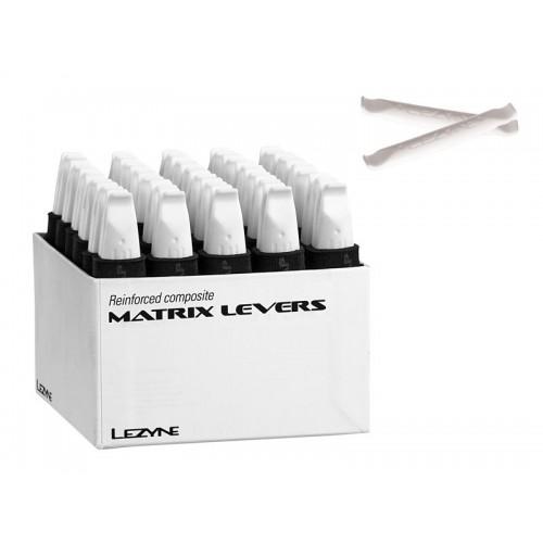 Łyżki do opon LEZYNE MATRIX LEVEL BOX pudełko 30x 2szt. białe (DWZ)