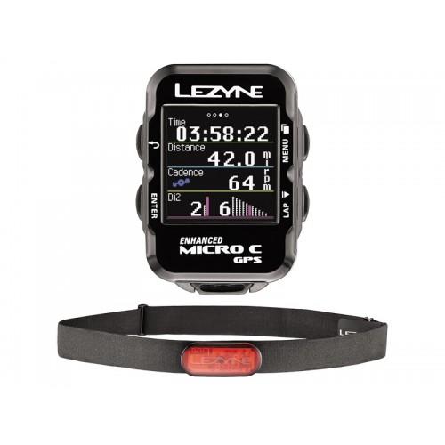 Licznik rowerowy LEZYNE Micro Color GPS HR Loaded (w zestawie opaska na serce) (DWZ)
