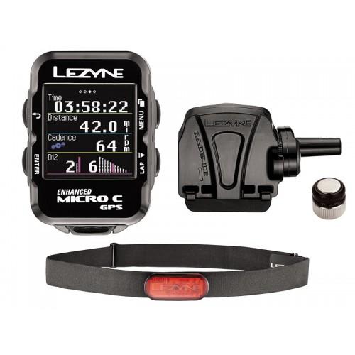 Licznik rowerowy LEZYNE Micro Color GPS HRSC Loaded (w zestawie opaska na serce + czujnik prędkości/kadencji) (NEW)
