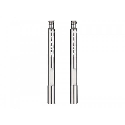 Końcówka do wentyla presta LEZYNE VALVE EXTENDERS aluminiowa srebrna 2szt.