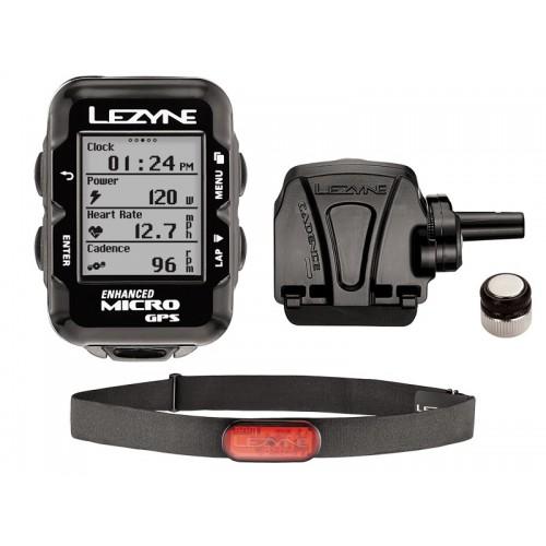 Licznik rowerowy LEZYNE Micro GPS HRSC Loaded (w zestawie opaska na serce + czujnik prędkości/kadencji) (DWZ)