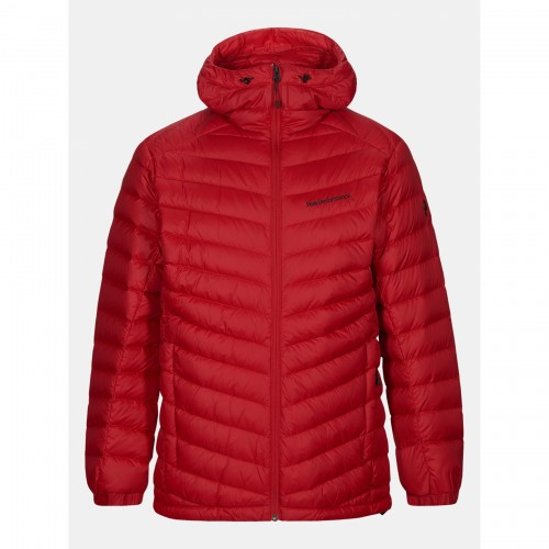 KURTKA puchowa PEAK PERFORMANCE FROST DOWN HOOD JACKET RED