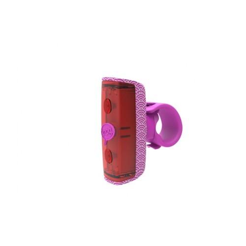 Lampa Knog Pop R tył różowa