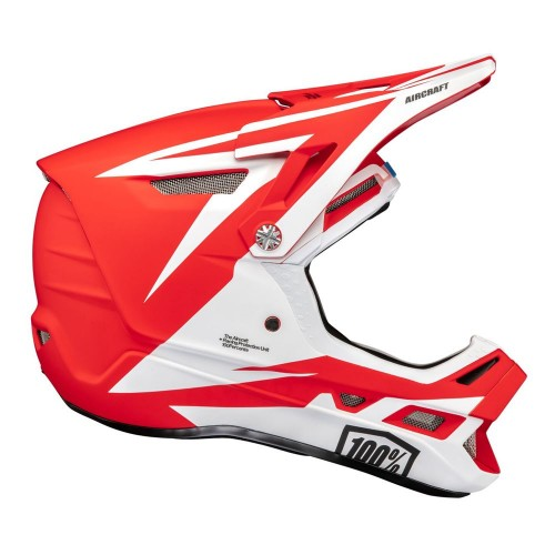 Kask full face 100% AIRCRAFT COMPOSITE Helmet Rapidbomb/Red