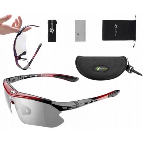 Okulary rowerowe fotochrom UV400 3 Rockbros