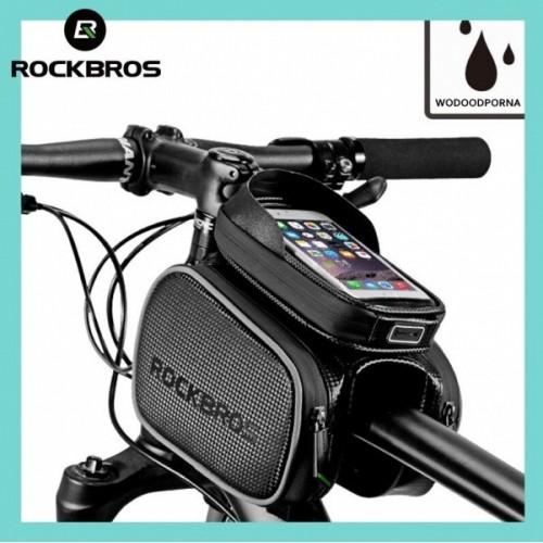 Torba rowerowa na ramę pod smartfon 5,8 i sakwy boczne